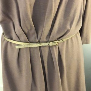 J. Crew Accessories - J Crew gold leather belt